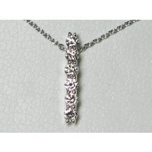 PT900 ロイヤルアッシャー ダイヤモンド ネックレス 0.20ct|bijou-shop