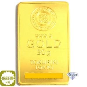 【流通品 現定数販売】純金 インゴット 徳力 30g K24 TOKURIKI INGOT 公式国際ブランド グッドデリバリー バー ゴールド バー 送料無料|bijou-shop