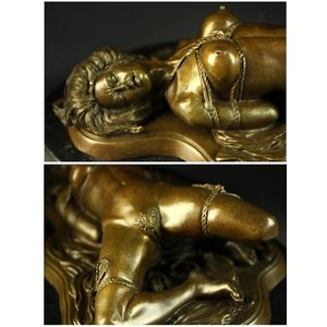 送料無料大人気ブロンズ像 緊縛の裸婦 J.Mavchi大名作インテリア彫刻フィギュア|bijyutuhinn|02