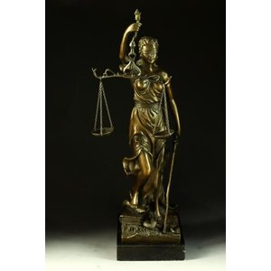 送料無料大型ブロンズ像正義の女神Houdon40cm