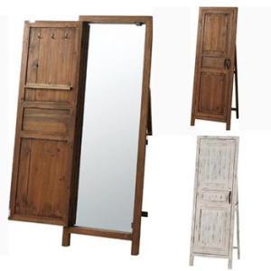 ドアの向こうに広がる世界 ドア型ミラー スタンドミラー / アンティーク 全身 姿見 おしゃれ ruu 1|bikagu