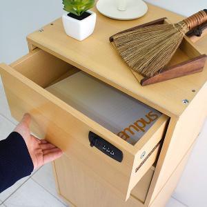 ダイヤル錠なら無くさない キューブボックスα 木製引き出し ダイヤル錠2個タイプ / 鍵付き 収納ボックス 引き出し 2段 小型 おしゃれ|bikagu|10