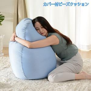 夏も人をダメにする ビーズクッション ビーズソファー 日本製 / 夏用 ひんやり抱き枕 洗える カバー付き 安い 大きい ペンギン たまご型 かわいい おしゃれ ruq|bikagu