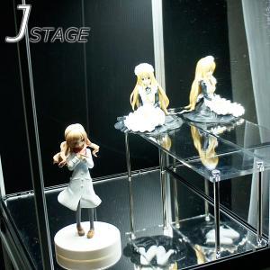 アクリルひな壇  高さ100 / コレクションケース ジェイステージ用 アクリル棚 オプション品 J-STAGE フィギュアケース用 アクリル棚|bikagu