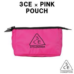 商品名:3CE ポーチ(M)ピンク(PINK) 素材:ポリエステル(中綿キルティング) サイズ:20...