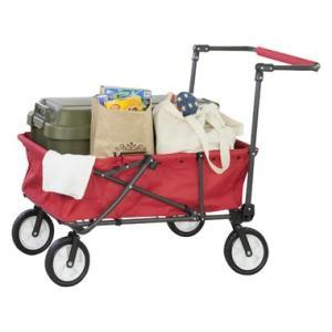 折りたたみ式  キャリーカート キャリーワゴン レッド  アウトドア ワゴン |コンパクト キャンプ レジャー クイックカート|bike-briller