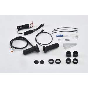 EFFEX バイク用 グリップヒーター スイッチ一体型コントロール インジゲーター φ22.2用 115/120/130mm対応  EGH001 スリム ツーリング 防寒 電源 bike-briller