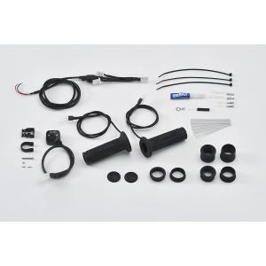 EFFEX バイク用 グリップヒーター スイッチ別体型インジゲーター φ22.2用 115/120/130mm 対応 EGH002 スリム ツーリング防寒 電源 bike-briller