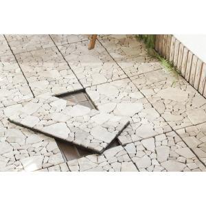 天然石 フロアーパネル 5枚セット 敷石 石畳 フロアタイル FLR-202|DIY リフォーム 屋内外使用 設置簡単 床材模様替え インテリア アウトドア ガーデン|bike-briller