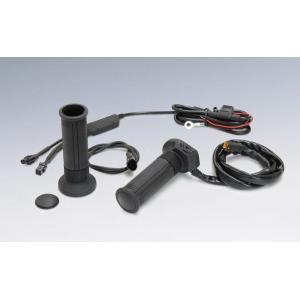 キジマ バイク用  グリップヒーター GH07 スッチ一体式インジゲーター φ22.2用 115/120/130mm スリム ツーリング防寒 車体電源 bike-briller