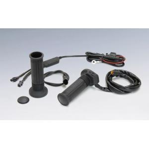キジマ バイク用  グリップヒーター GH07 スッチ一体式 インチハンドル用 25.4mm 130mm スリム ツーリング防寒 電源 ハーレー アメリカン bike-briller