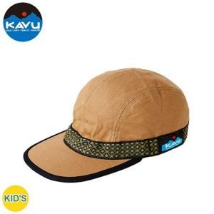 カブー KAVU キッズ ストラップキャップ Dベージュ  日本製| 子供用 帽子 キャンバスコットン  アウトドア トレッキング 日よけ|bike-briller