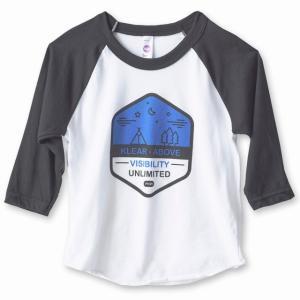 カブー KAVU キッズ 七分丈 ロングTシャツ FlyBall  ブラック ホワイト|子供用 アウトドア ダンス 衣装 お出かけ用 プレゼント お祝いに|bike-briller