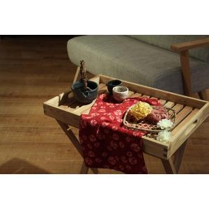 木製 折りたたみ コンパクト トレーテーブル LFS-357NA | アウトドア 持ち運びデスク テーブル 机 オイル仕上げ アカシア おしゃれ キャンプ ガーデン|bike-briller