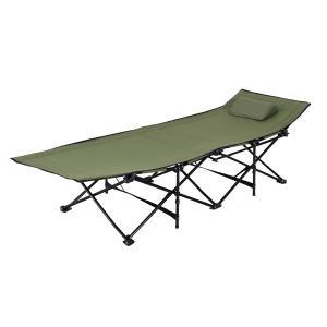 折りたたみ式ベッド 持ち運び コット グリーン LFS-709GR | スチール サンシャインベッド 簡易ベッド おしゃれ キャンプ  車載|bike-briller