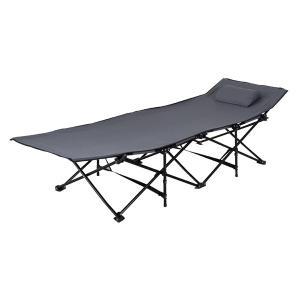 折りたたみ式ベッド 持ち運び コット グレイ LFS-709GY| スチール サンシャインベッド 簡易ベッド おしゃれ キャンプ グランピング|bike-briller