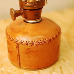 【商品詳細】  ◇商品名 : 本革 レザーカートリッジカバー OD230-DBB OD缶 ガス缶 ヌ...