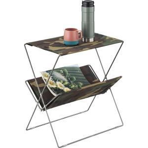 MDF天板 迷彩柄 折りたたみ フォールディング サイドテーブル |収納 丈夫 テラステーブル レジャーテーブル おしゃれ アウトドア キャンプ グランピング|bike-briller
