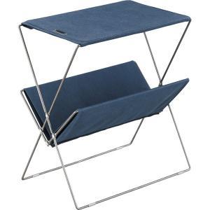 MDF天板 折りたたみ ネイビー フォールディング  サイドテーブル |収納 丈夫 テラステーブル レジャーテーブル おしゃれ アウトドア キャンプ グランピング|bike-briller