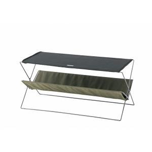 折りたたみサイドテーブル  グリーン  フォールディング 90  MDF天板 |収納 丈夫 テラステーブル レジャーテーブル アウトドア キャンプ|bike-briller
