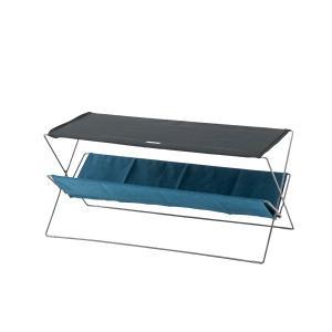 折りたたみサイドテーブル  ネイビー フォールディング 90  MDF天板 |収納 丈夫 テラステーブル レジャーテーブル アウトドア キャンプ|bike-briller
