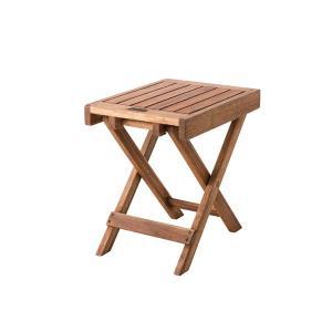 木製 折りたたみ ミニテーブル アカシア オイル仕上げ 1〜2人用 デニム生地トートバッグ付き|テラステーブル おしゃれ アウトドア キャンプ グランピング|bike-briller