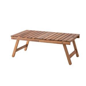 木製 折りたたみ テーブル アカシア オイル仕上げ デニム生地トートバッグ付き|テラステーブル レジャーテーブル おしゃれ アウトドア キャンプ グランピング|bike-briller