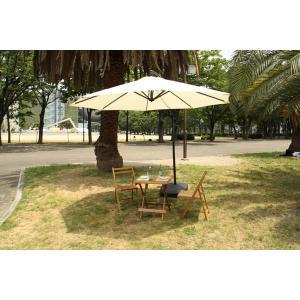 ガーデンパラソル 吊り下げ ナチュラル RKC-529NA アルミ 日傘 日よけ 庭 テラス エクステリア ガーデン サンシェード アウトドア グランピング キャンプ|bike-briller