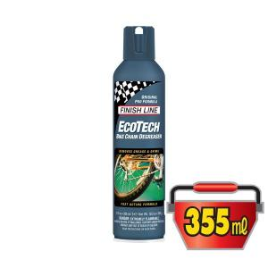 FINISH LINE(フィニッシュライン) エコテック バイク チェーン ディグリーザー 355mlエアーゾール/ECOTECH BIKE CHAIN DEGREASER(洗浄剤)(強力かつ安全な洗浄力)|bike-king