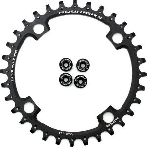 Fouriers フォーリアーズ CX1042 ナローワイド チェーンリング PCD:104mm 32/34/36/38/40T bike-king
