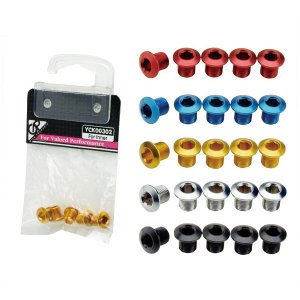 GP(ギザプロダクツ) チェーンリング フィキシングボルト (インナー用)(同色5 個セット)/Chainring Fixing Bolt (for Inner) (YCK003)(GIZA PRODUCTS) bike-king