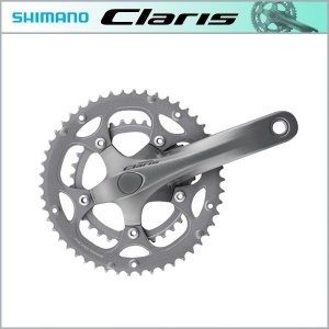 SHIMANO CLARIS クラリス FC-2450 クランクセット 34X50T 165mm 対応BB オクタリンクES 113mm シルバー|bike-king