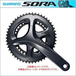 SHIMANO New SORA(シマノ ソラ) クランク(ダブル) 165〜175mm 50X34T 9S(9速) チェーンガード付 ・BB別売 FC-R3000(5月入荷予定)|bike-king