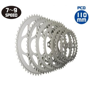 TIOGA(タイオガ) チェーンリング (5 アーム用 / PCD : 110mm)/Chainring (for 5 arm / PCD : 110mm) (CKR05200)(52T)(自転車用)|bike-king
