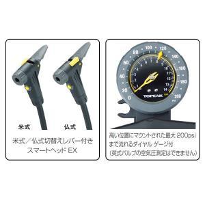 TOPEAK(トピーク) フロアポンプ ジョーブロー マックス HPX JOEBLOW MAX HPX(PPF058)|bike-king|02