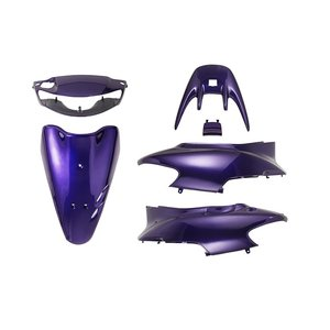 ホンダ ライブディオZX AF35 2型シャッター式 外装セット 6点 黒 紫 新品 バイクパーツセンター bike-parts-center
