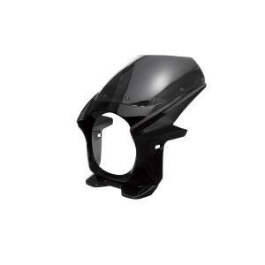 汎用 ビキニカウル φ180 黒 ブラック 新品 フロントカウル バイクパーツセンター|bike-parts-center