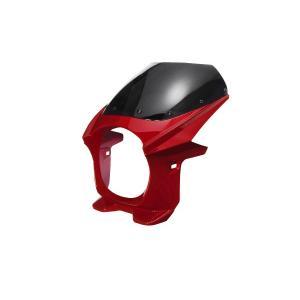 汎用 ビキニカウル φ180 赤 レッド 新品 フロントカウル バイクパーツセンター|bike-parts-center