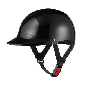ヘルメット 半キャップ ブラック 新品 57cm〜60cm 半ヘル SG規格・PSCマーク取得 バイクパーツセンター|bike-parts-center