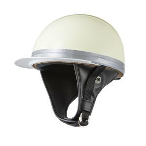 ヘルメット コルク半 ホワイト 新品 白ツバ 原付・スクーター SG規格適合 PSCマーク取得 バイクパーツセンター|bike-parts-center