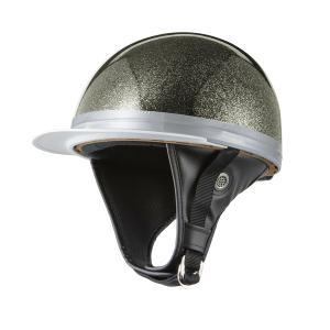 ヘルメット コルク半 ブラックラメ 新品 白ツバ 原付・スクーター SG規格適合 PSCマーク取得 バイクパーツセンター|bike-parts-center
