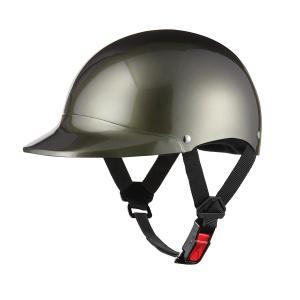 ヘルメット 半キャップ ガンメタ 新品 57cm〜60cm 半ヘル SG規格・PSCマーク取得 バイクパーツセンター|bike-parts-center