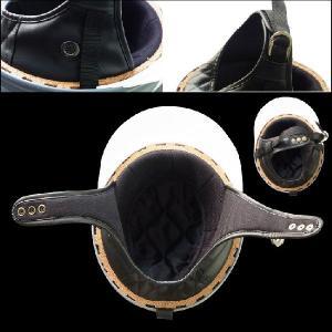 ヘルメット コルク半キャップ 三つボタン レッドラメ 新品 半ヘル 57cm〜60cm未満 半帽 バイクパーツセンター bike-parts-center 04