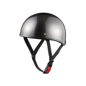 バイク用ヘルメット ダックテール ガンメタリック 半ヘル SG規格・PSCマーク取得 バイクパーツセンター|bike-parts-center