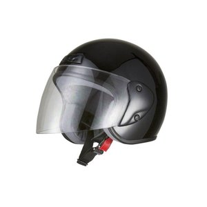 ヘルメット ジェット ブラック SG規格 PSCマーク取得 ワンタッチホルダー バイクパーツセンター|bike-parts-center