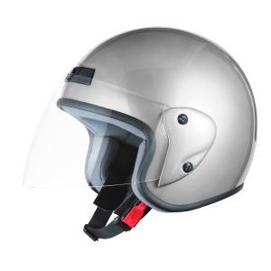 ヘルメット ジェット シルバー SG規格 PSCマーク取得 ワンタッチホルダー バイクパーツセンター|bike-parts-center