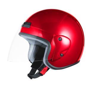 ヘルメット ジェット レッド SG規格 PSCマーク取得 ワンタッチホルダー バイクパーツセンター|bike-parts-center