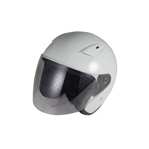 ラウンドフォルムジェットヘルメット ホワイト   バイクパーツセンター bike-parts-center
