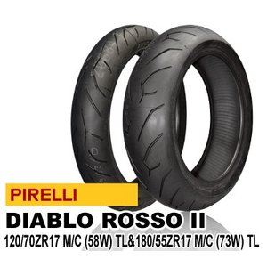 ピレリ ディアブロ ロッソ2 120/70ZR17 M/C (58W) TL& 180/55ZR17 M/C (73W) TL PIRELLI DIABLO ROSSO2 バイク用タイヤ前後セット バイクパーツセンター bike-parts-center