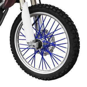 新品 スポークラップ 215mm 青 40本セット ホイール1本分 ブルー スポークスキン バイクパーツセンター|bike-parts-center